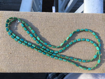 "Sample Sale, 60"" Necklace, Turquoise"