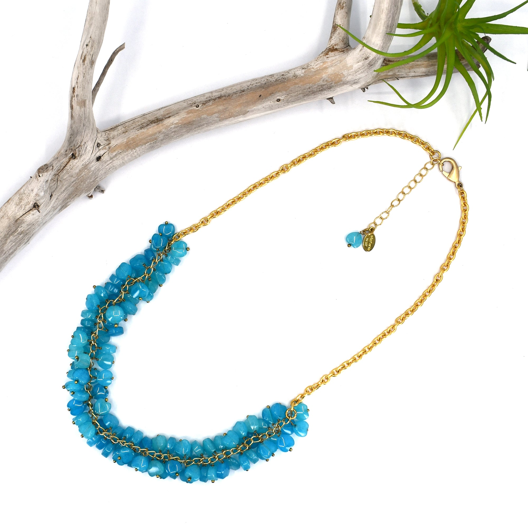 Rock Candy Necklace, Blue