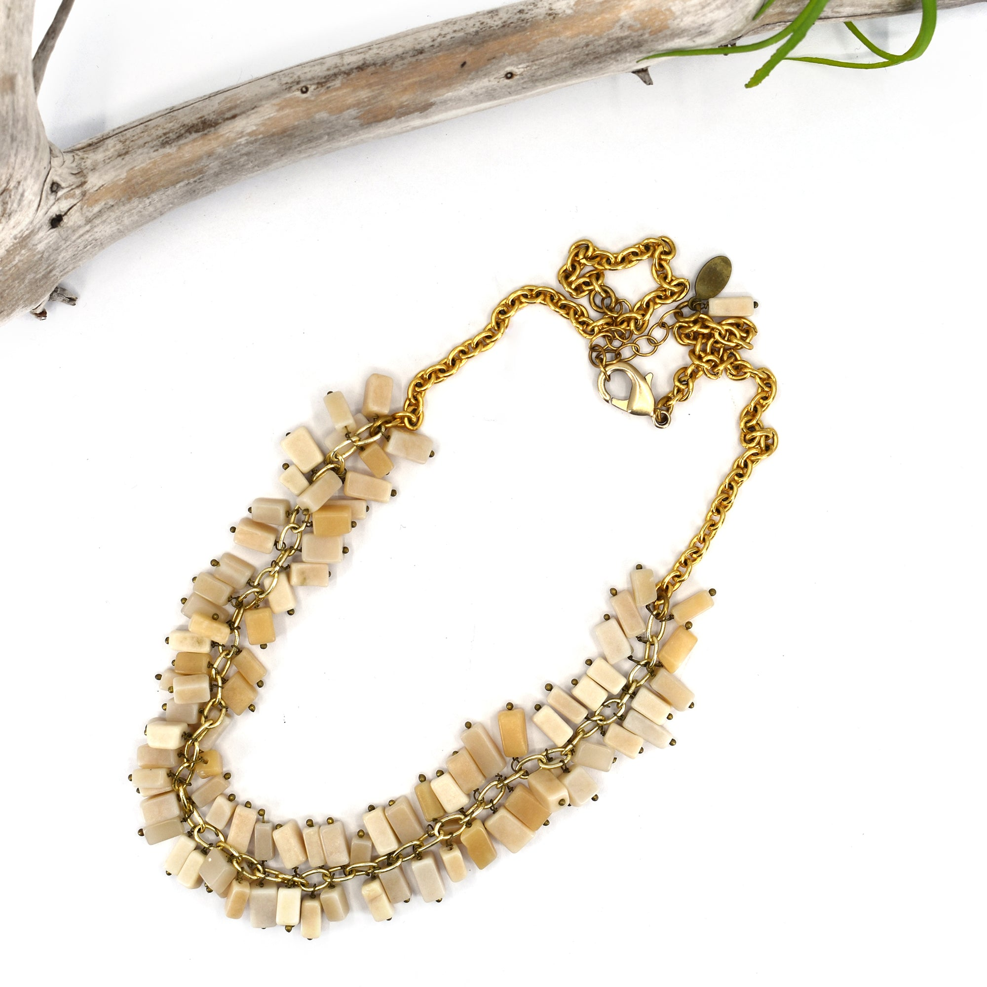 Rock Candy Necklace, Ivory