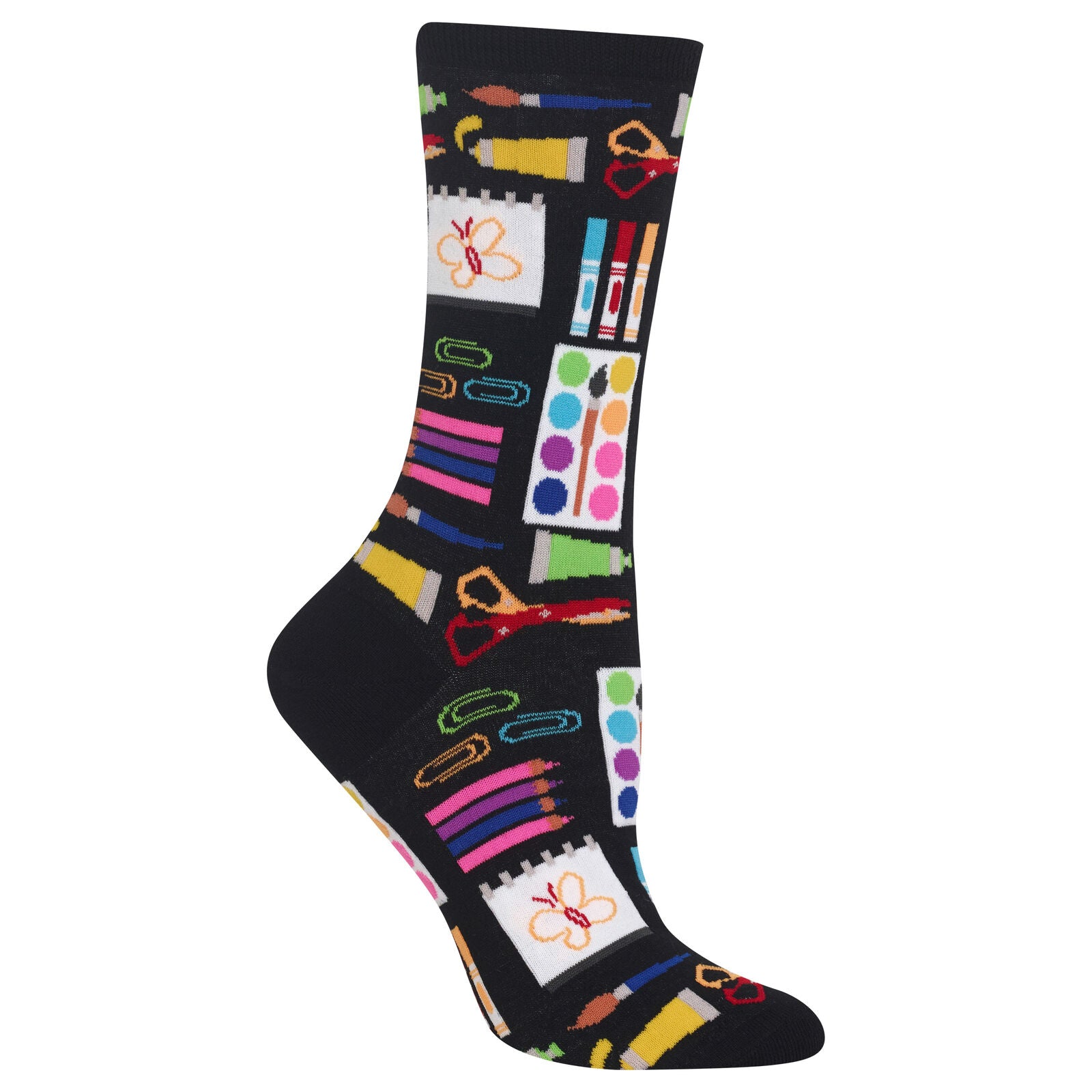 Socks with Art Supplies