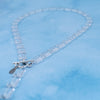 "18"" Necklace, Trilogy, Crystal Clear Ice Cube"