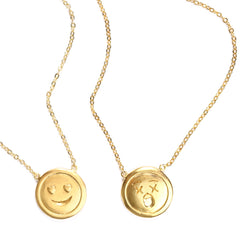 Double Sided Lover Face x Dead Upon Arrival Face Necklace
