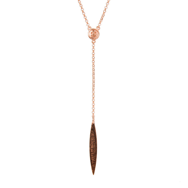 Delicate Spear Drop Necklace