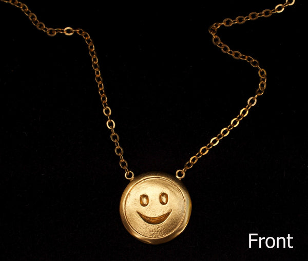 Double Sided Happy X Sad Face Necklace