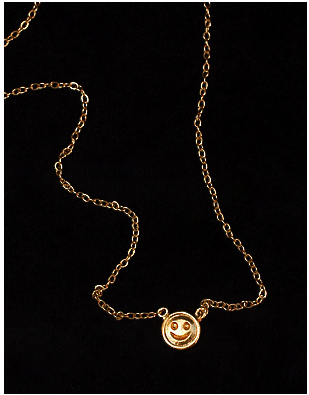 Mini Smiley Face Necklace