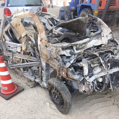 mass of twisted metal used to be a car