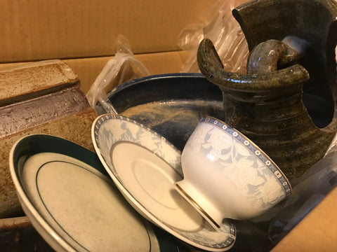 pottery donated after Typhoon Hagibis