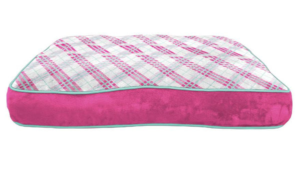 Cozy Plaid Fleece Bed