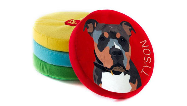 4b8da1c1d43d Custom Dog Frisbee Toy with Name and Photo Durable Fleece by PrideBites
