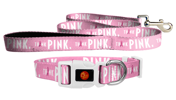 Think Pink Collar & Leash Bundle