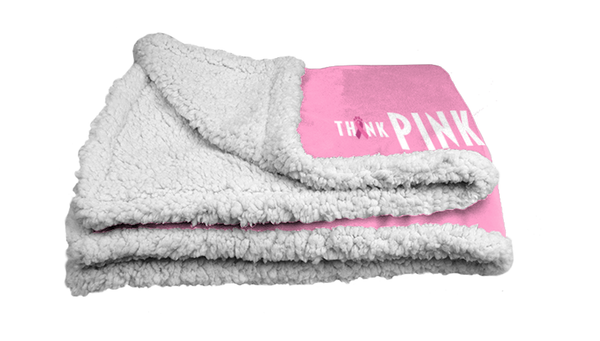 Think Pink Sherpa Blanket