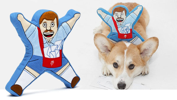 Larry the Mailman Dog Toy