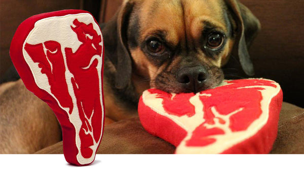 Steak Dog Toy