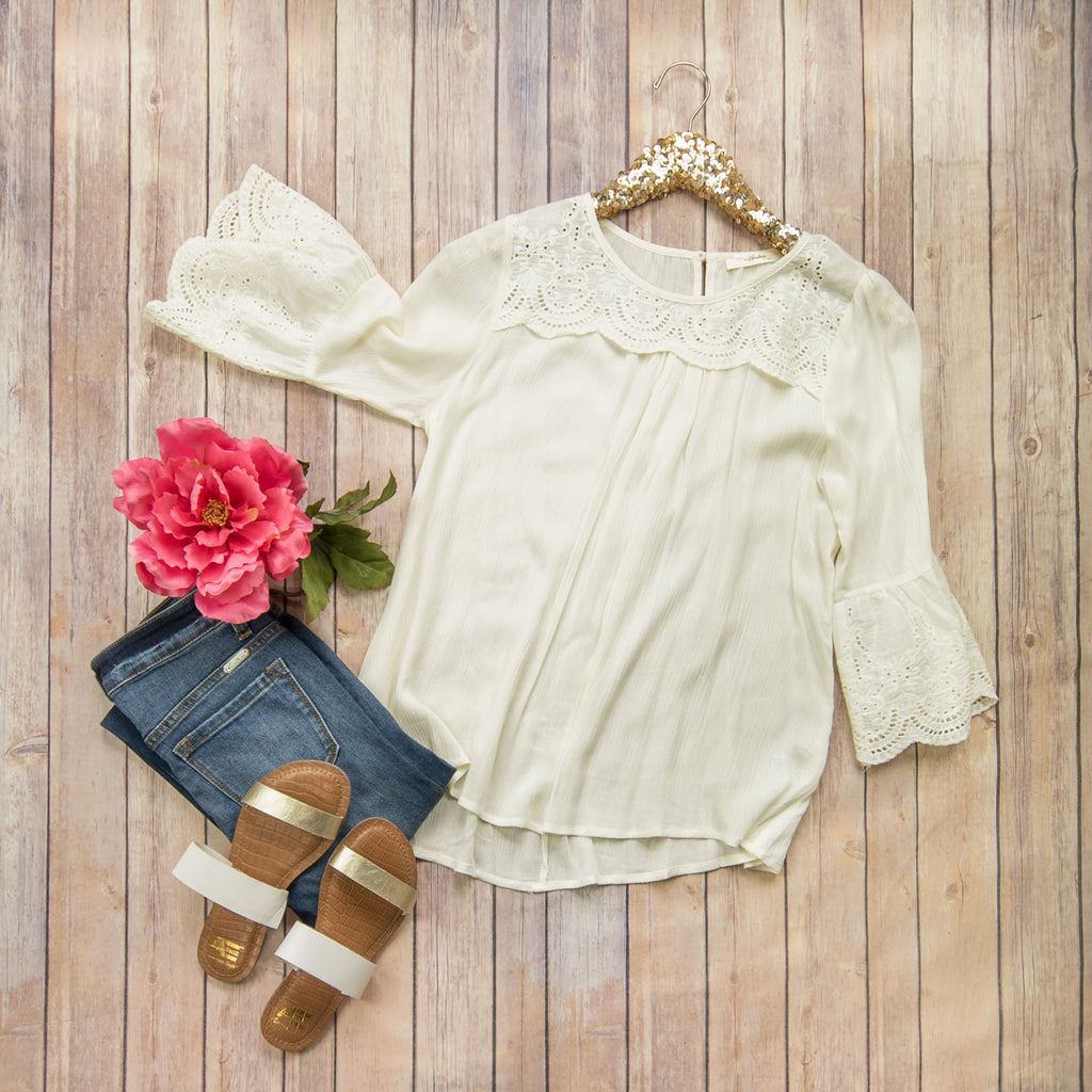 Ivory Summer Blouse *all sales final*
