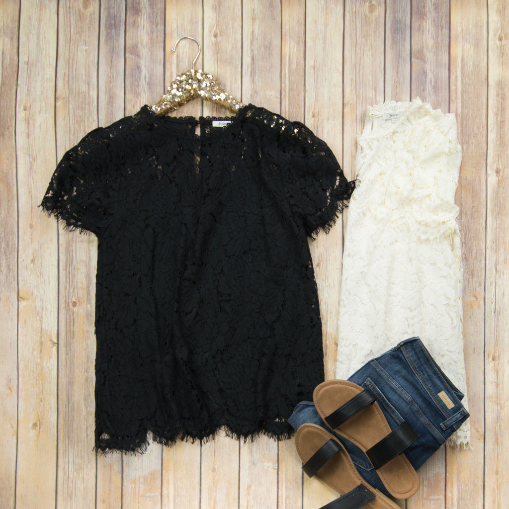 Lace the Town Blouse