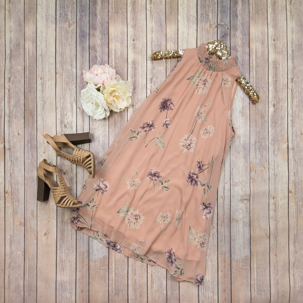 Mauve Highneck Dress ED61562