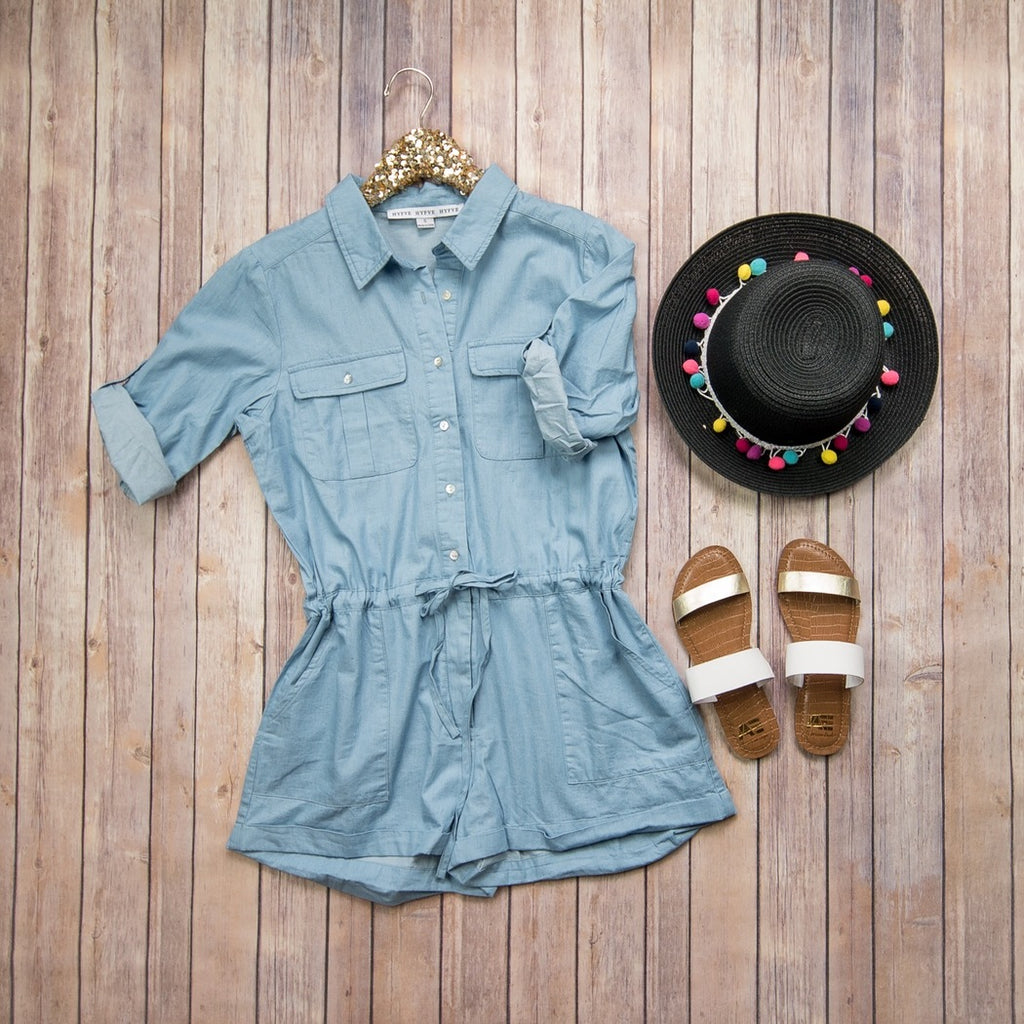 Denim Romper 17C269