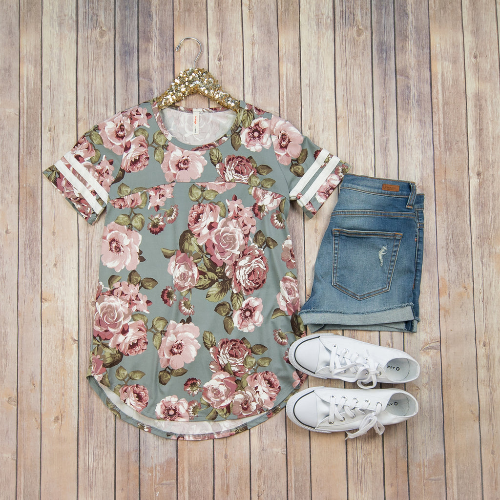Floral Baseball Tee KT25234