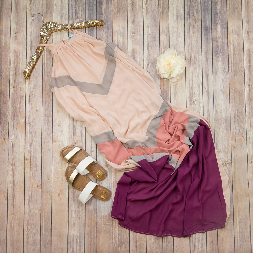 Mauve To Be Dress SL1429R *ALL SALES FINAL* SUMMER