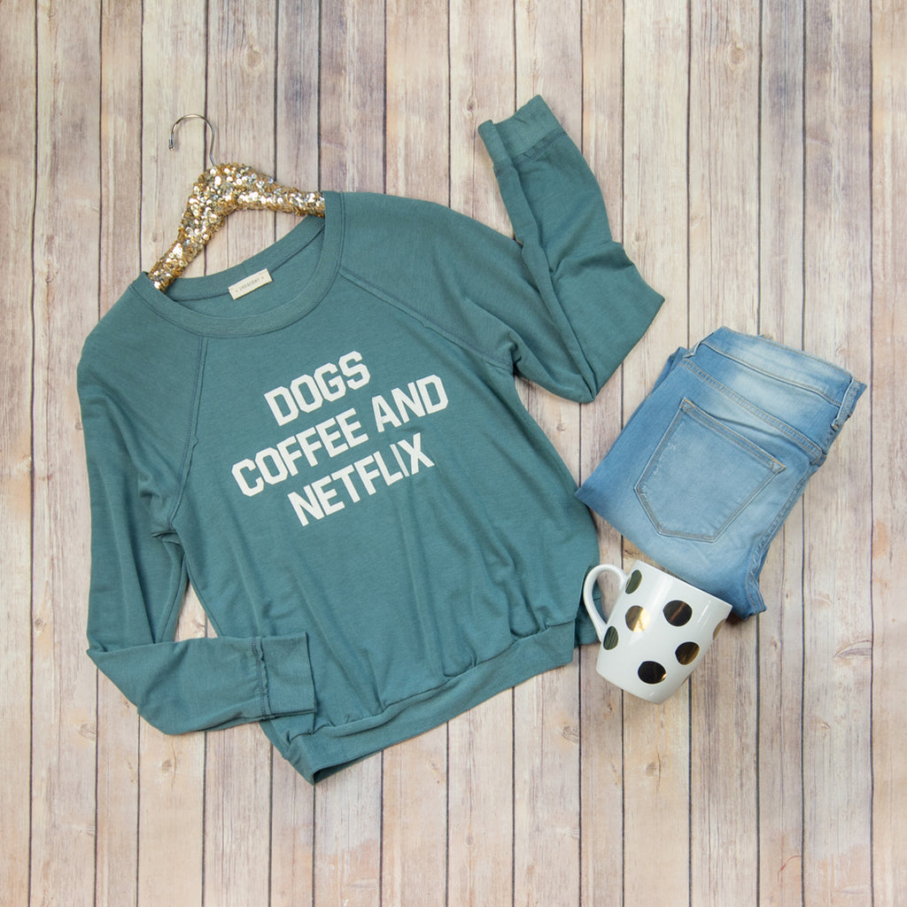 Dogs Coffee Netflix Sweater CT4184