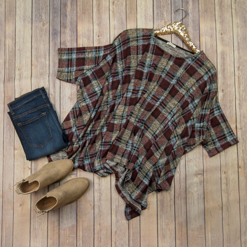 Blogger Plaid Tunic P2449