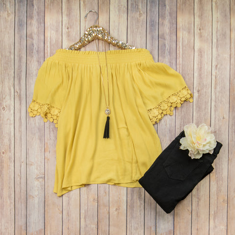 Bright Yellow Off-The-Shoulder