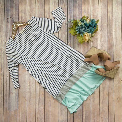 Stripes+ Mint Dress***
