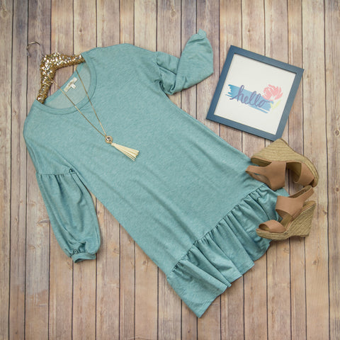 Cozy Ruffle Dress