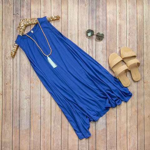 Cobalt Layering Tank Dress***