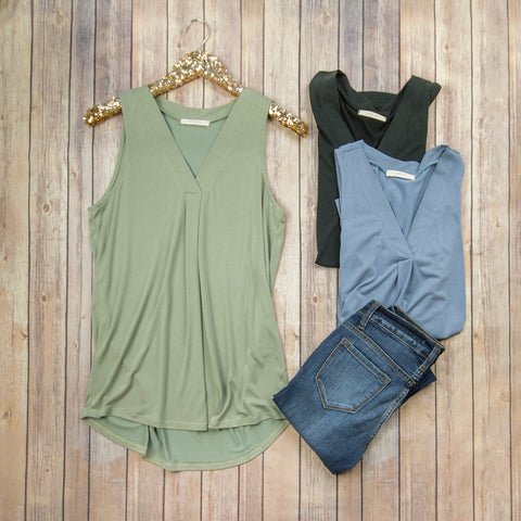 Comfy Sleeveless Blouse