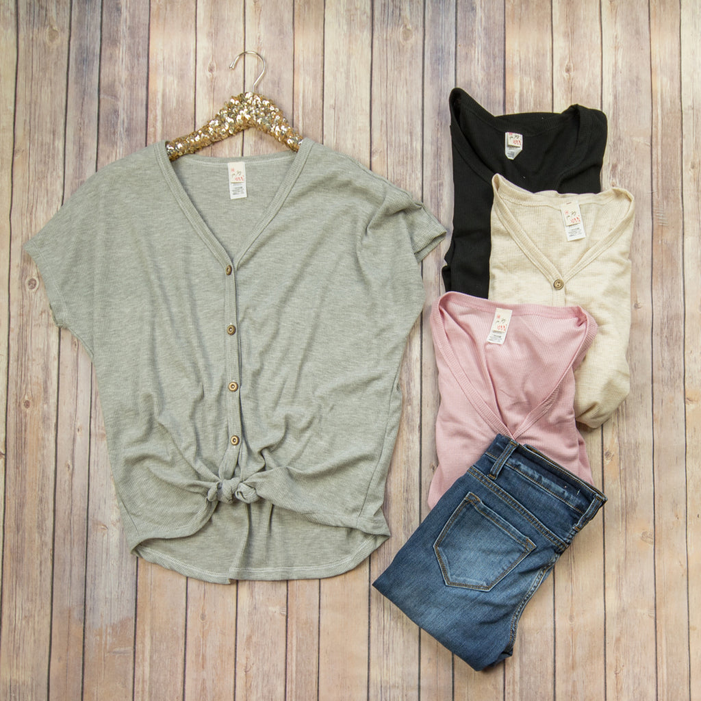 Button Tie Top