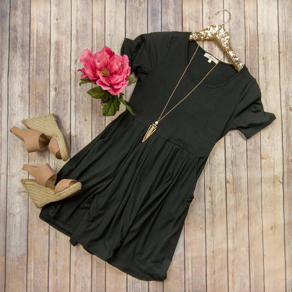 Black Day to Day Dress***