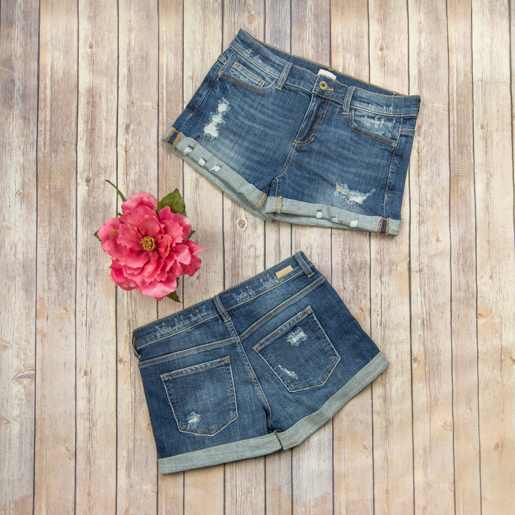 Darker Wash Denim Shorts