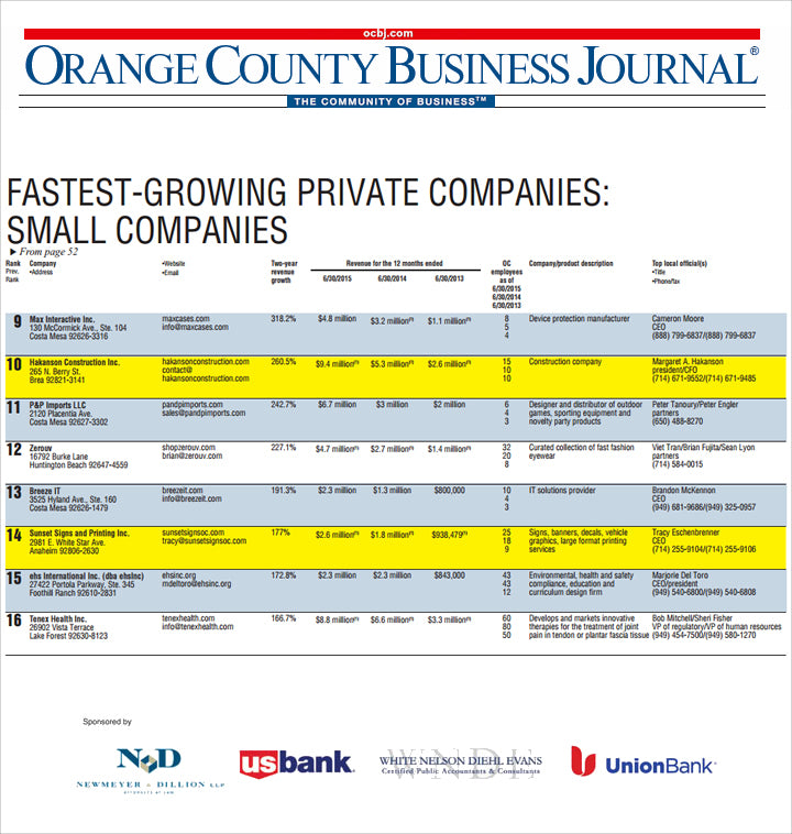 ocbj fastest growing companies