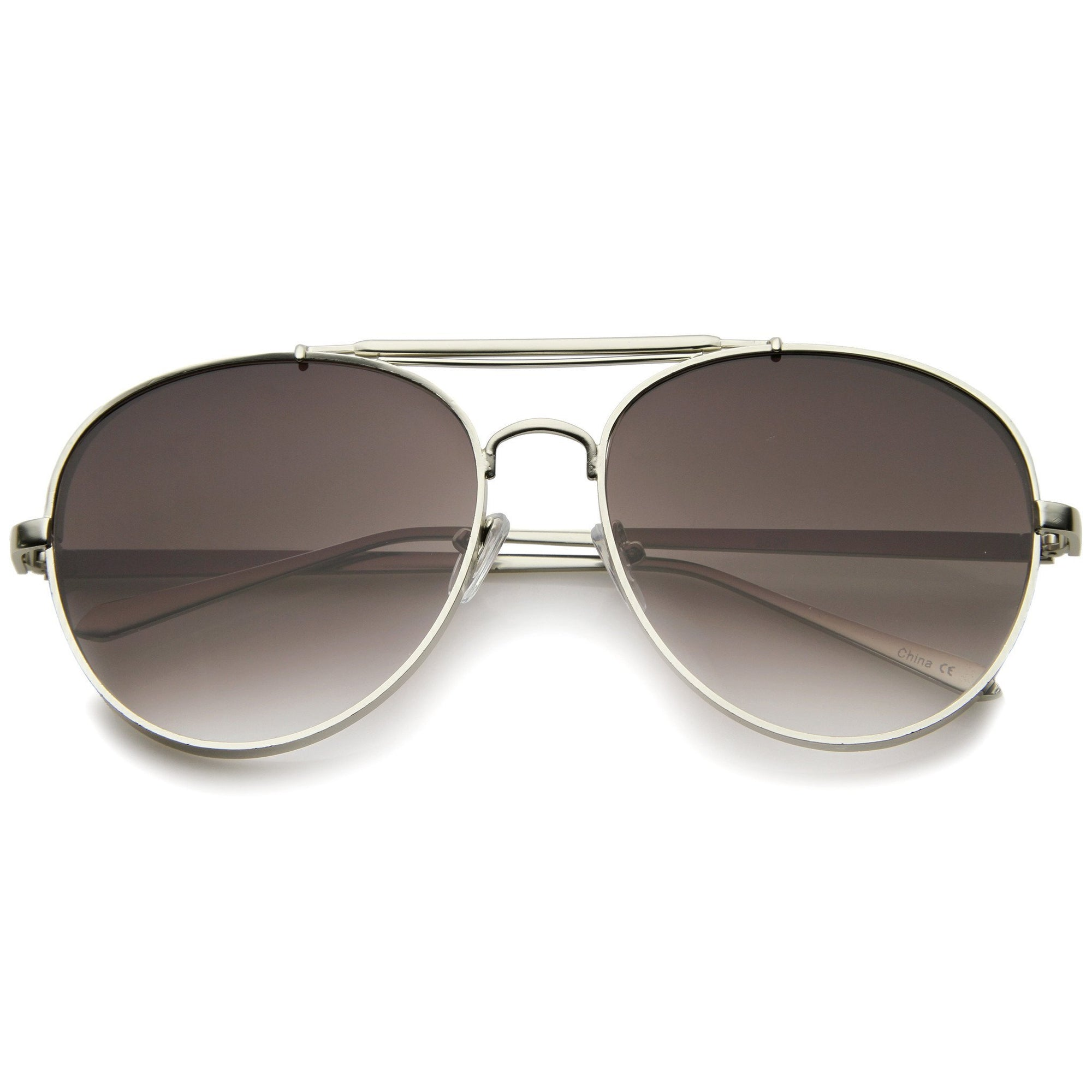 Modern Side Cover Flat Lens Aviator Sunglasses A253