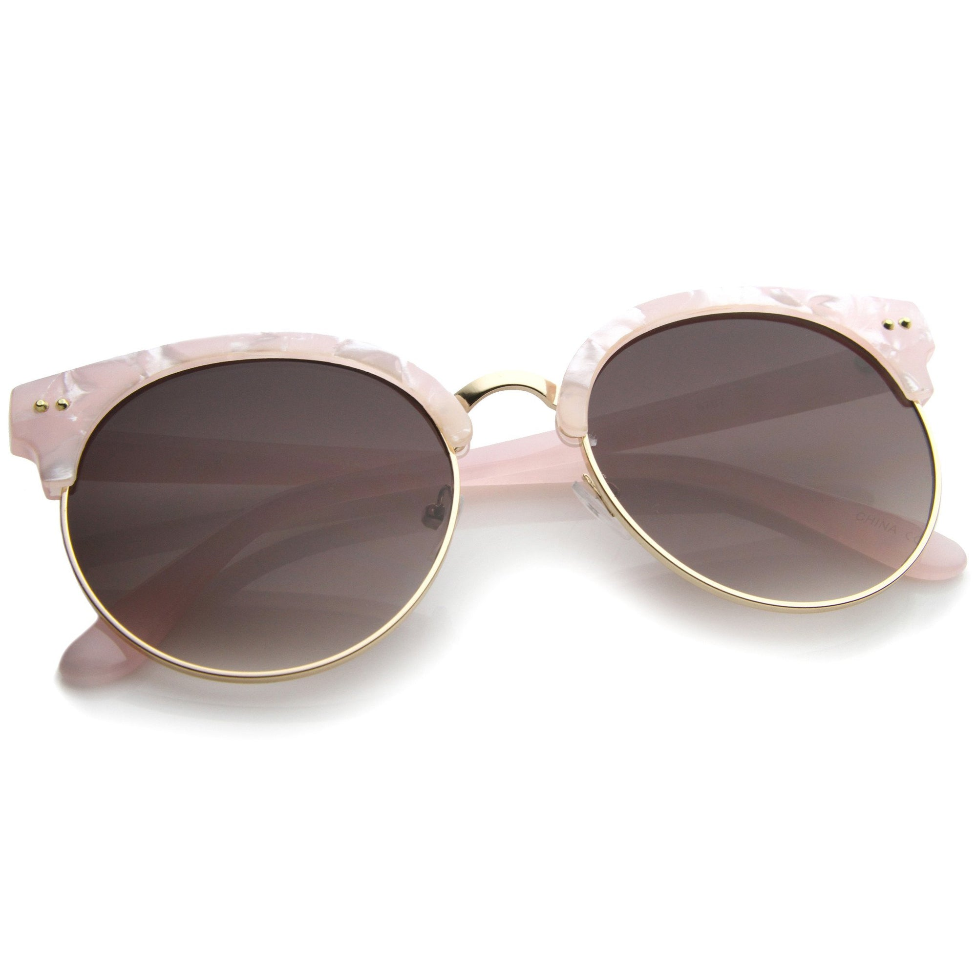 69a50d0e86866 ... Oversize Women s Marble Half Frame Round Sunglasses A243 · Pink Gold  Lavender · Pink Gold Lavender · Pink Gold Lavender · Pink Gold Lavender