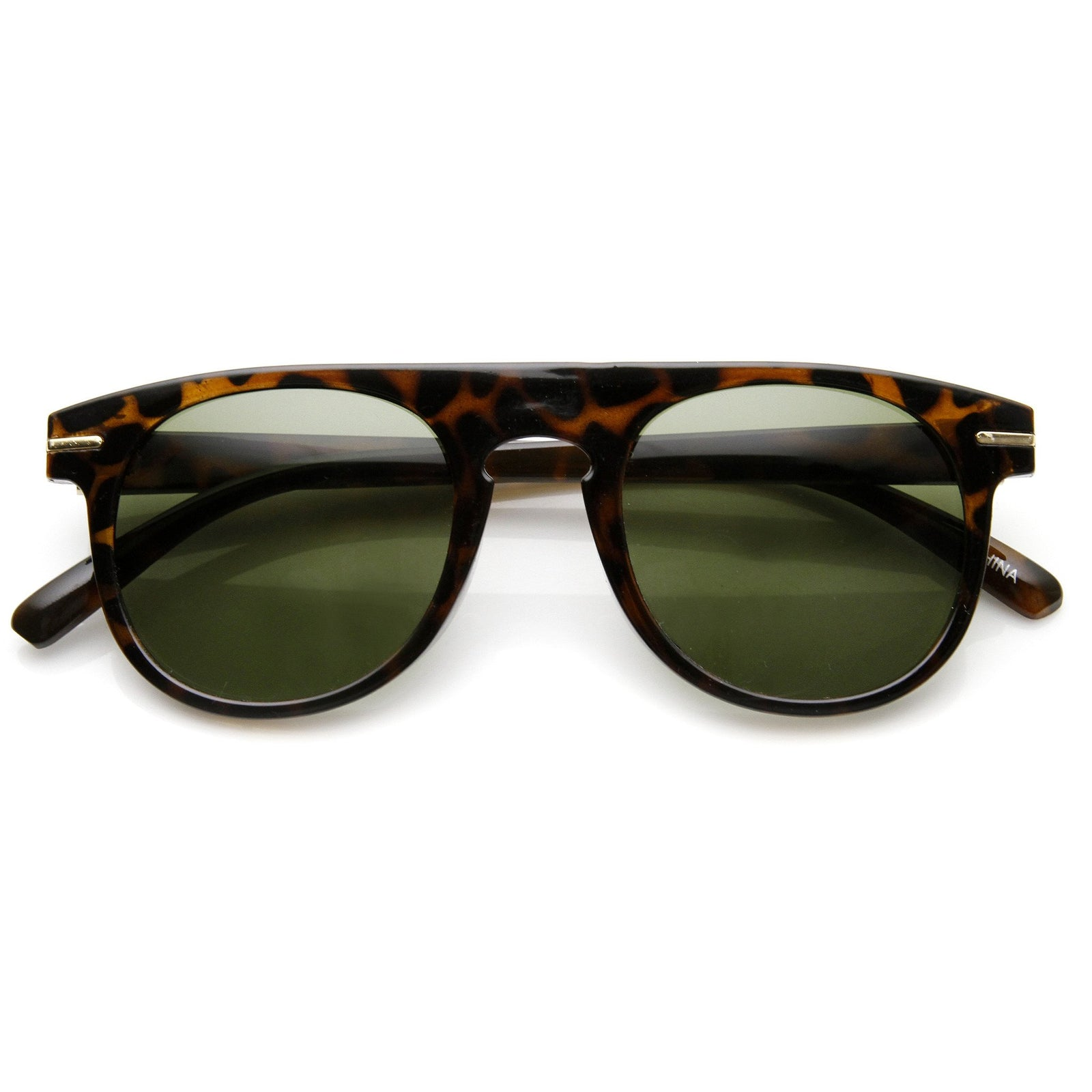 0859aabed Retro Indie Dapper Keyhole P3 Round Flat Top Sunglasses 9302