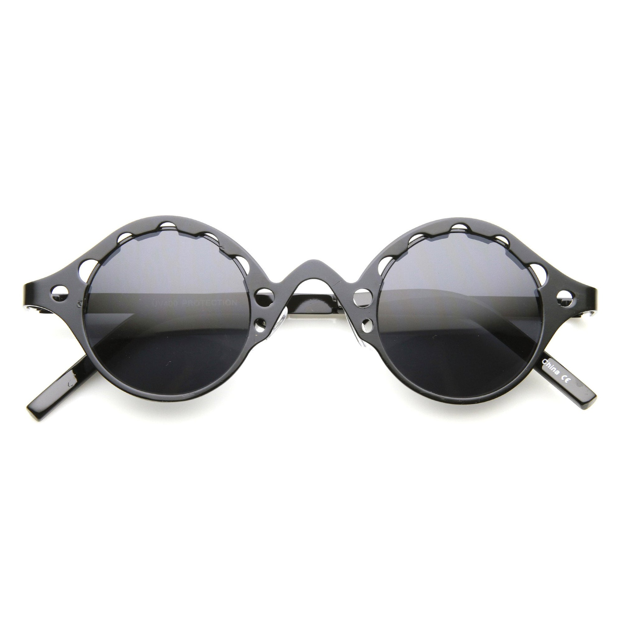 0ac4651e64 Vintage Inspired Steampunk Round Chain Frame Sunglasses 9579
