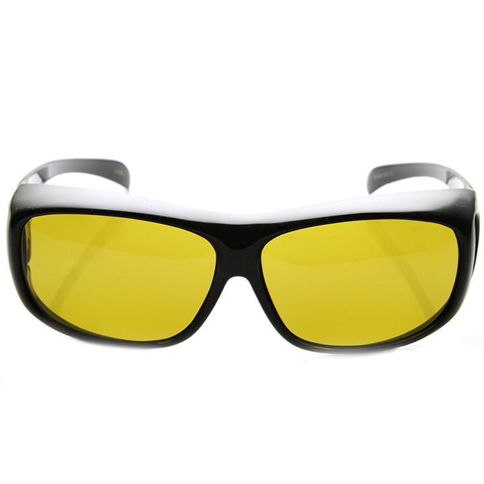 d0f35922d8 Safety Protective Fit Over Polarized Night Driving Lens Sunglasses 9446