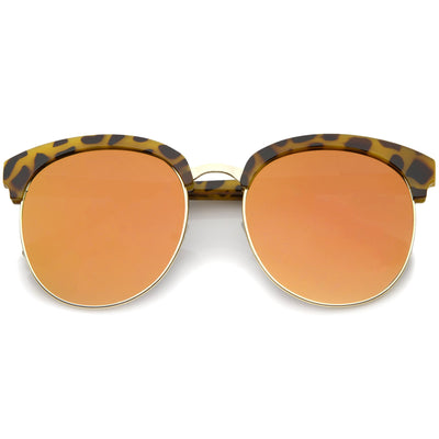 Tortoise Gold Orange Mirror