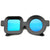 Valley City X zeroUV Shapes Circle Square Sunglasses A537