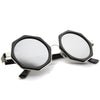 Oversize Geometric Octagon Mirrored Lens Round Sunglasses A111