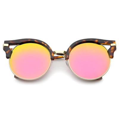 Brown Tortoise Pink Yellow Mirror
