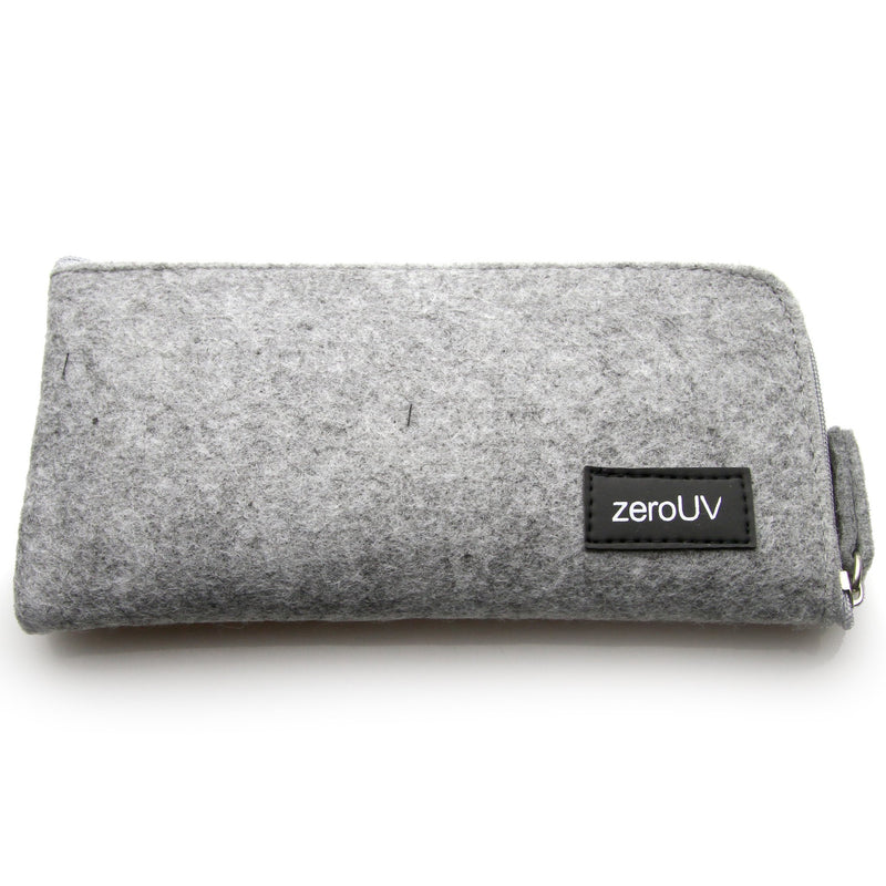 Soft Felt zeroUV Slim Zipper Sunglasses Case A550