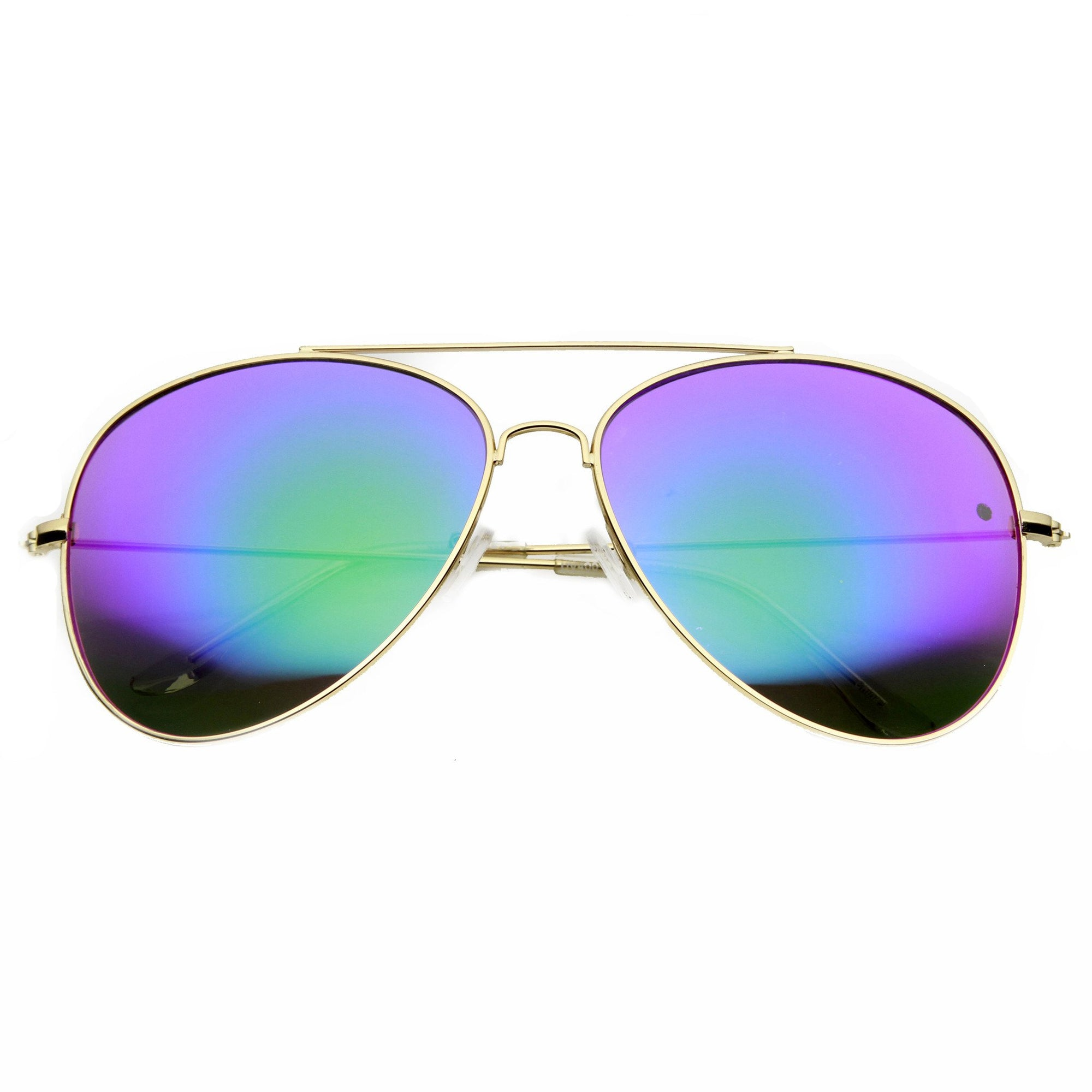 1ce53a45dcf ... Metal Mirror Lens Aviator Sunglasses 9596 · Gold Midnight