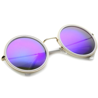 Gold White Violet Mirror