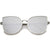 Oversize Modern Flat Mirror Lens Fat Eye Sunglasses A852