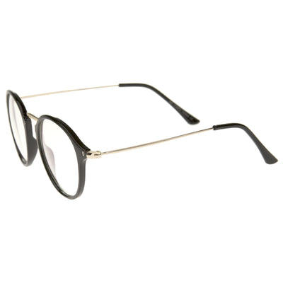 3e18b6b301 Indie Hipster Round Clear Lens Dapper Glasses - zeroUV