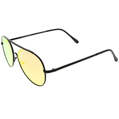 Modern Center Focus Mirror Lens Aviator Sunglasses A511