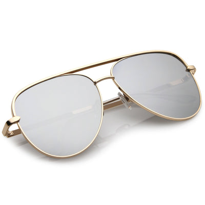 Premium Oversize Mirrored Flat Lens Aviator Sunglasses C361